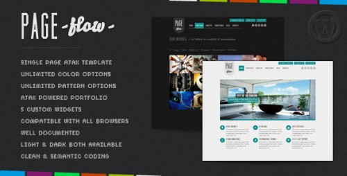10_PageFlow - OnePage Dynamic AJAX Portfolio