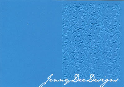 11_Blue Embossed Card