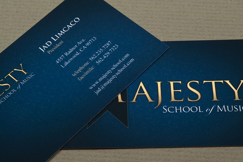 17_Music School Business Card