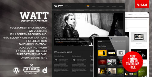 19_WATT Creative Studio Wordpress Template