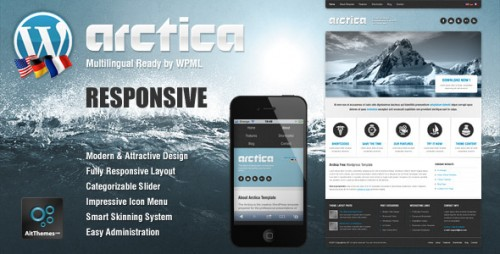 1_Arctica - Responsive Wordpress Theme