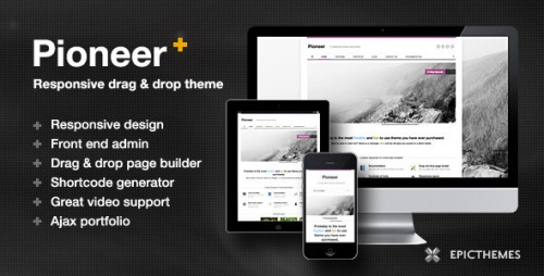 22_Pioneer Responsive Drag &amp; Drop Theme