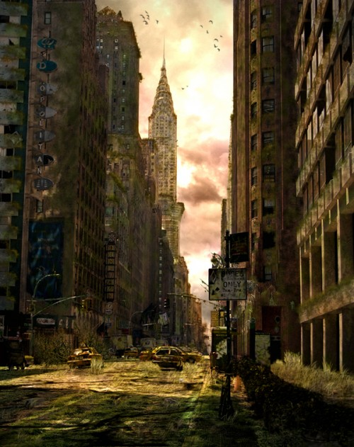 23_Dark Post Apocalyptic City in Photoshop