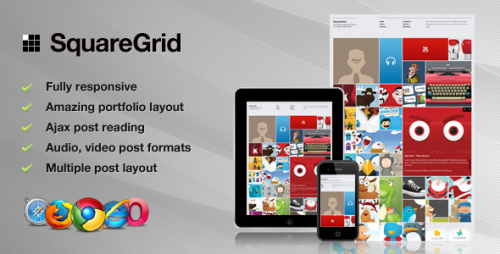 24_SquareGrid - Fully Responsive Theme For Portfolio