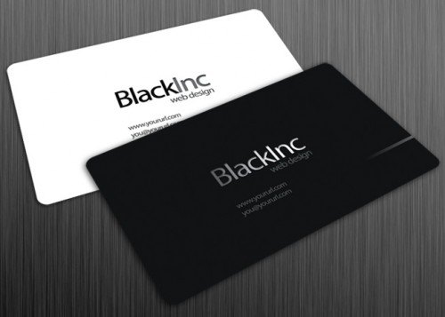 25_Black Inc Free Business Card