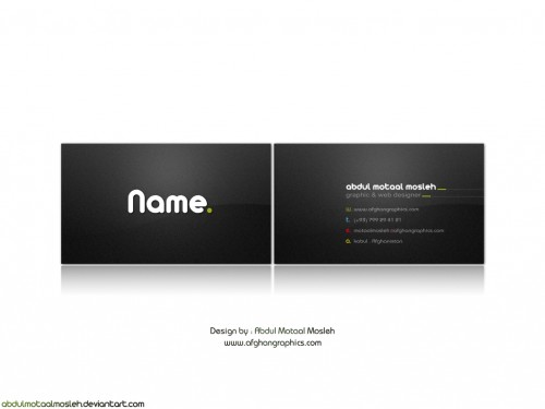 27_Ab Motaal Mosleh Business Card