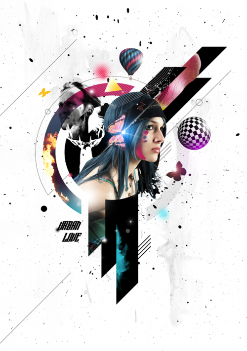 27_Create a Mixed Media Style Design In Photoshop