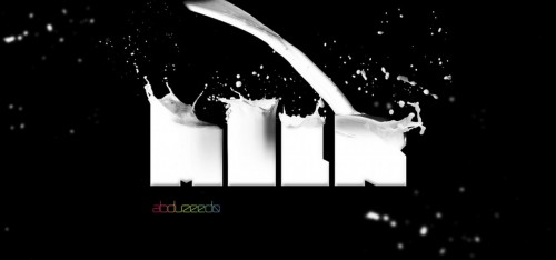 3_Awesome Milk Typography Effect in Photoshop