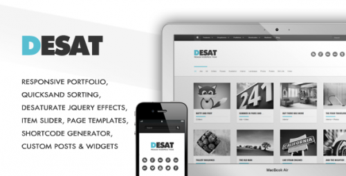 3_Desat - Responsive Portfolio Theme