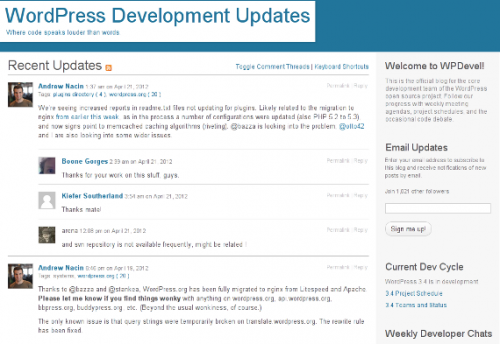 3_WordPress Development Updates