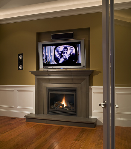 20. Fraser with overmantel Shiitake Cast Concrete Fireplace Mantel