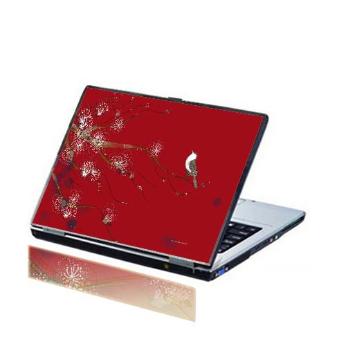 11_Crimson Singing Bird Laptop Skin