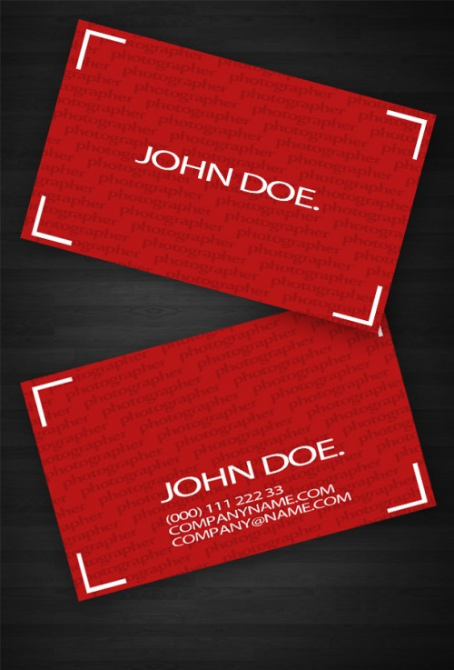 12_Red Business Card Template