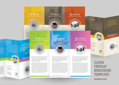 13_Clean Trifold Brochure