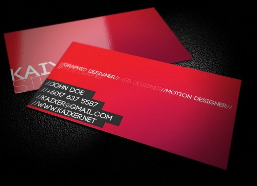 14_Minimal Style Business Card