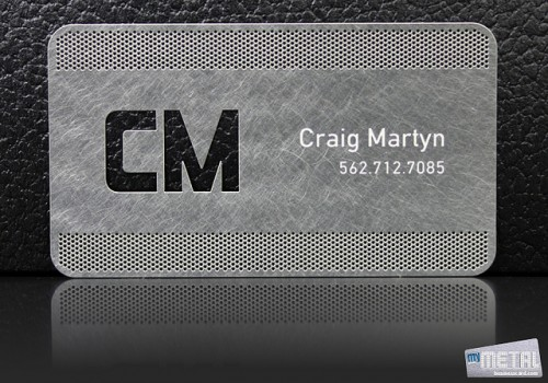 14_Modern Metal Business Card