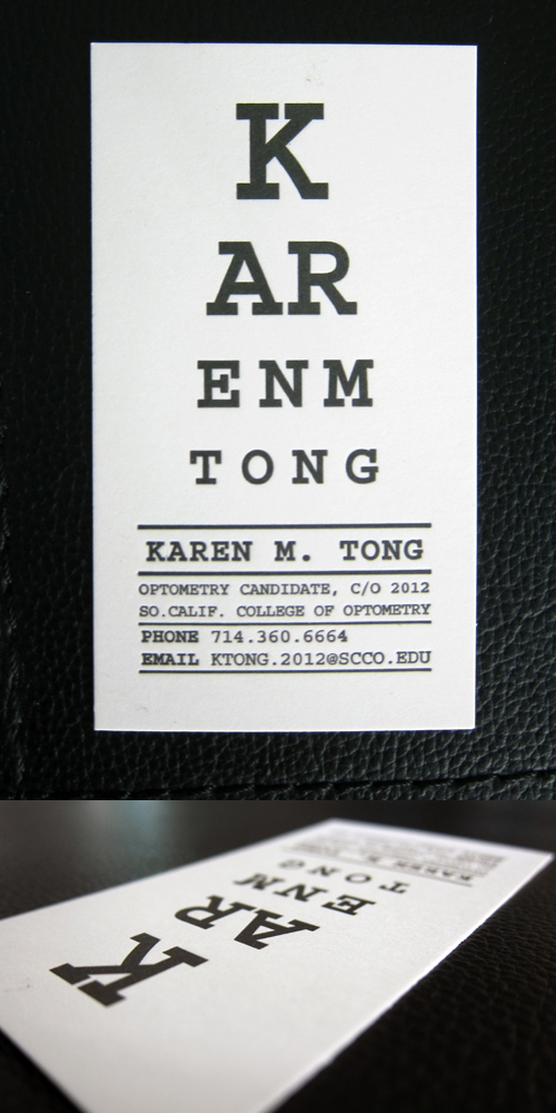 15_Optometrist Business Card