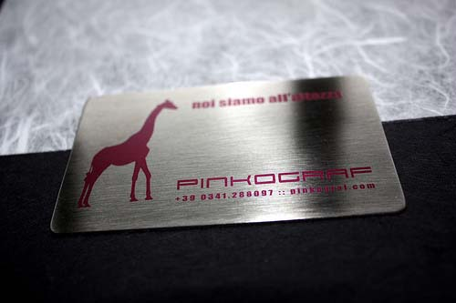 16_Metal Steel Business Cards Full Colors
