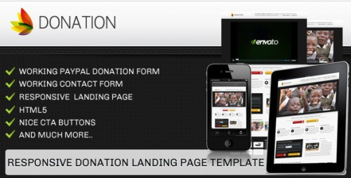 17_Donation Landing Page Template - Responsive