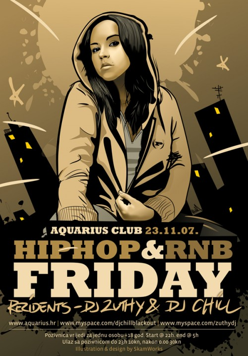18_Aquarius Hip-Hop and RnB Flyer