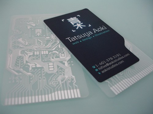 18_Business Card for Tatsuya Aoki