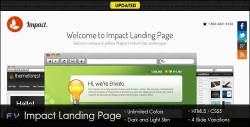 18_Impact Landing Page - Clean and Minimal