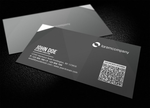 19_Corporate Business Card With QR Code