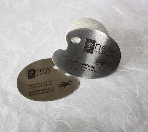 1_Metal Steel Business Cards