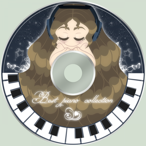 20_Piano Music CD Sticker