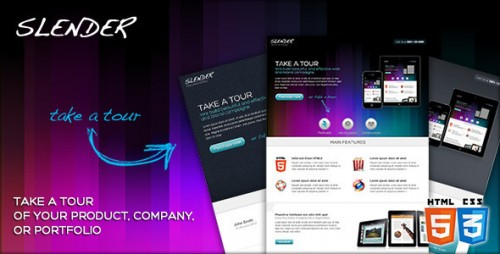 20_SLENDER - Take a Tour Landing Micro Site