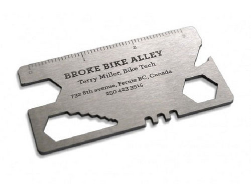 21_Broke Bike Alley's Metal Business Card