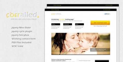 22_Corralled Landing Page