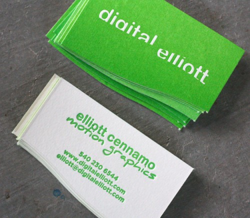 22_Die Cut Letterpress Business Cards