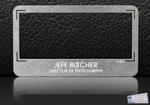 23_Creative Metal Business Card Front