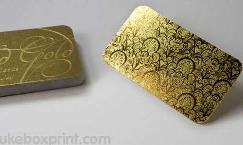 23_Gold Business Card