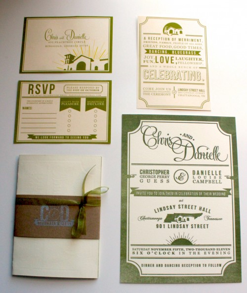 23_Letterpress Wedding Invitation