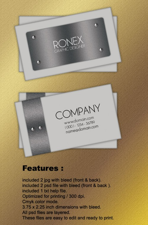 24_Metal Business Card