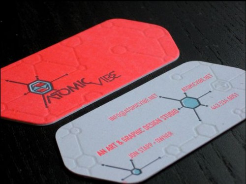25_ATOMICvibe Business Cards
