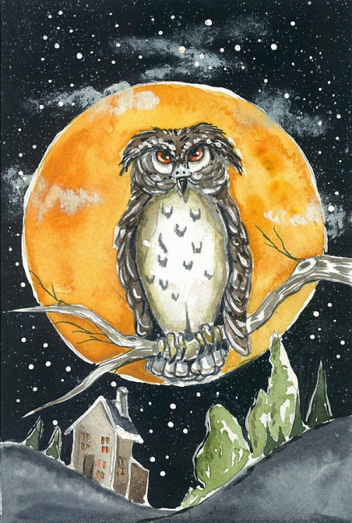 25_Great Horned Owl Postcard