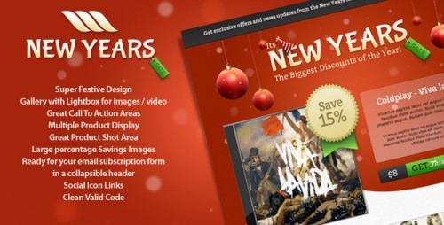 25_New Year Sale Landing Page