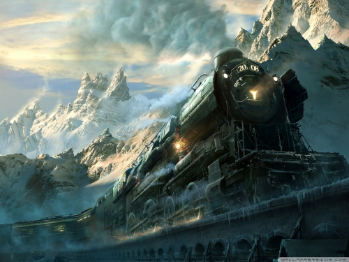 25_Train Travel Fantasy Wallpaper