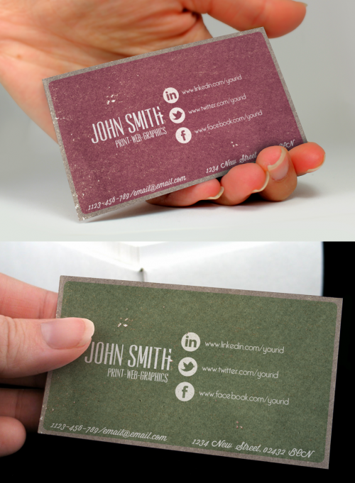 26_Social Vintage Business Card