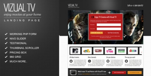 26_Vizual-tv TV Film Movies Landing Page