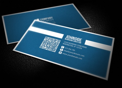 27_Business Card With QR Code