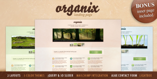 28_Organix - Simple Product Oriented Landing Page