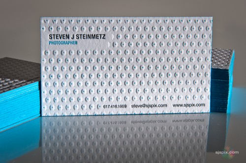29_Steven J Steinmetz Photographer Letterpress Business Cards