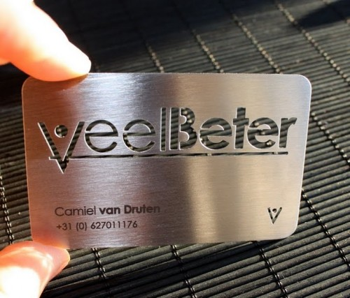 30_Metal Steel Business Cards