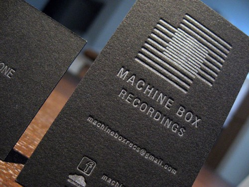 30_Metallic Letterpress Business Cards