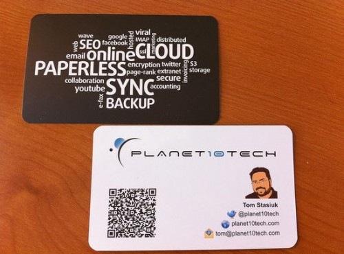 32_Planet10tech business card with QR Code