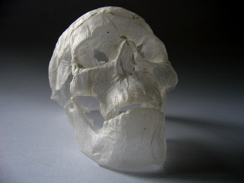 32_Tissue Paper Sculpture - Skull